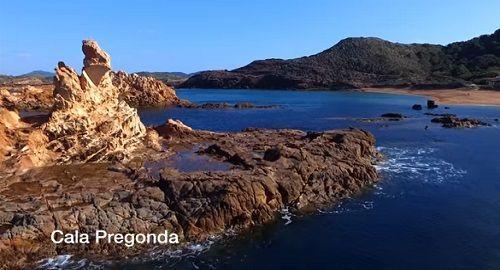 Varios de los Mejores Lugares, Playas, Calas de MENORCA, a vista de dron