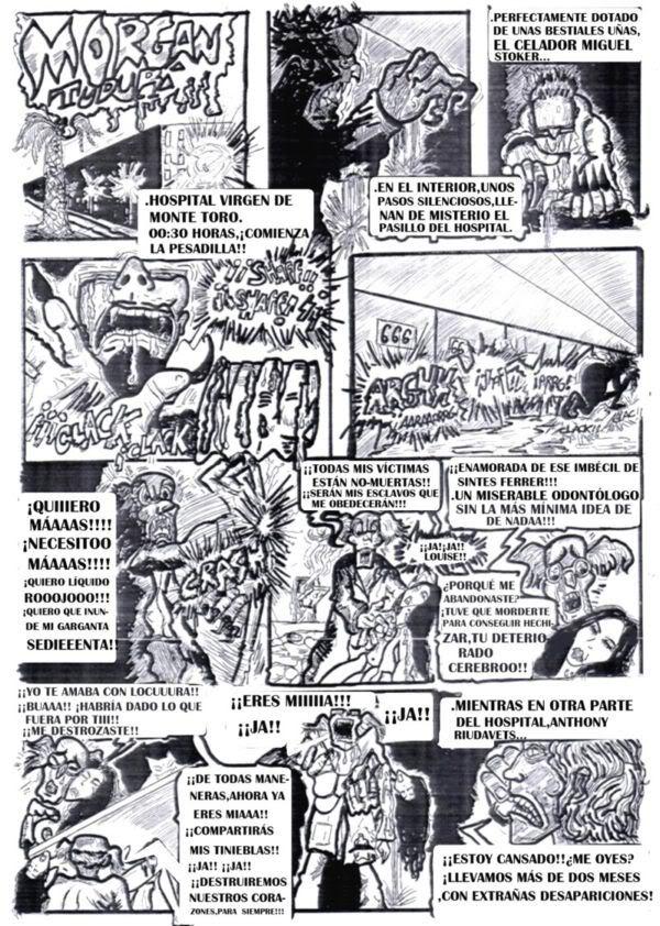 cómic, viñeta, dibujo, dibujante menorquín Tommy knockers, canalmenorca.com racomic.com