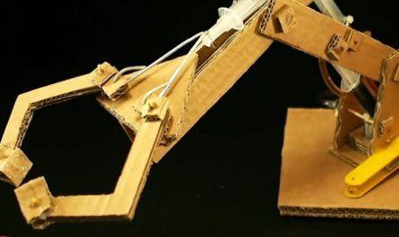 cartón, papel, origami, papiroflexia, manualidad, mano, robot, brazo, hidráulico, manos, canalmenorca.com