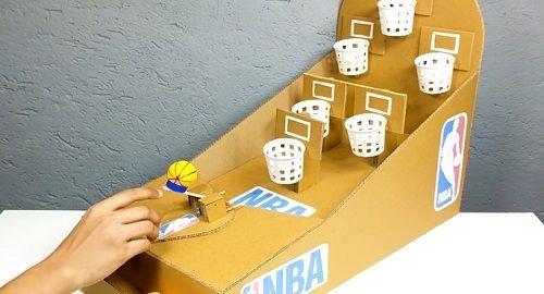 cartón, papel, origami, papiroflexia, manualidad, mano, baloncesto, nba, vasos papel, canalmenorca.com