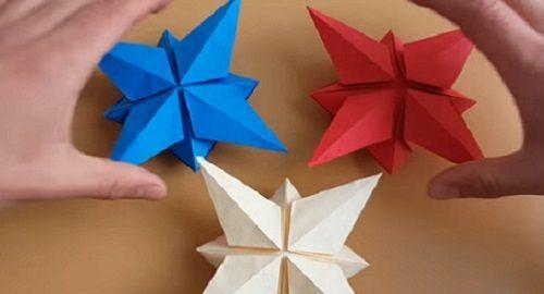 Cómo hacer una ESTRELLA 3D – Origami – Papiroflexia
