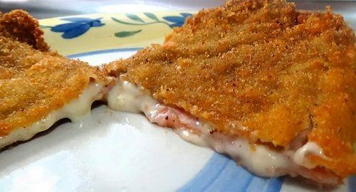 filetes ternera, lonchas queso sandwich, lonchas jamón cocido, harina de trigo, huevo, pan rallado, sal, pimienta, aceite, canalmenorca.com