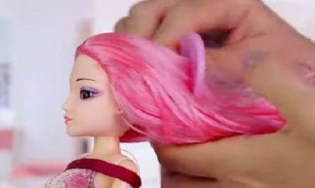 flequillo, teñir el cabello, patines en miniatura, Mochila DIY, colección de maquillaje, barbie, pelo, champú, accesorios, botellas, belleza, acondicionador, mochila, glamur, canalmenorca.com