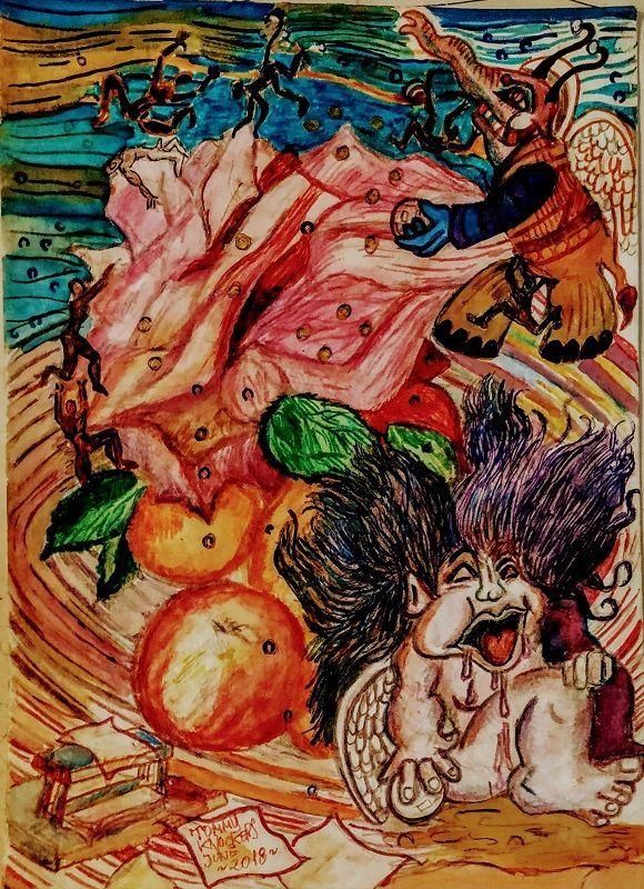 cómic, viñeta, dibujo, dibujante menorquín Tommy knockers, niño malcriado, frutero insano, elefante voladora, canalmenorca.com racomic.com