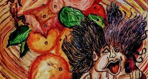NIÑO MALCRIADO al lado de un Frutero Insano