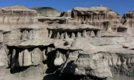 Bisti, De-Na-Zin, Wilderness, Nuevo México, montañas, rocas, estados unidos