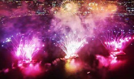 DJI Phantom 2, GoPro Hero 3 silver, fuegos artificiales, espectáculo, hd, dron, canalmenorca.com