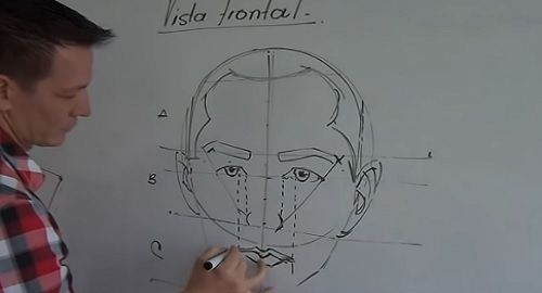 Cómo dibujar un ROSTRO (Vista Frontal)
