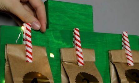 manualidad, bricolaje, mano, cemento, ideas, inventiva, navidad, calendario, adviento, teleférico, cajas té, cable, regalar, canalmenorca.com