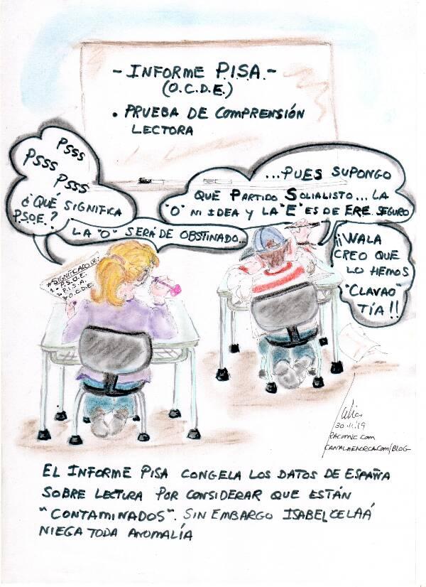cómic, viñeta, dibujo, tebeo, historieta, arte, caricatura, rincón de julia, racomic.com, informe pisa, canalmenorca.com