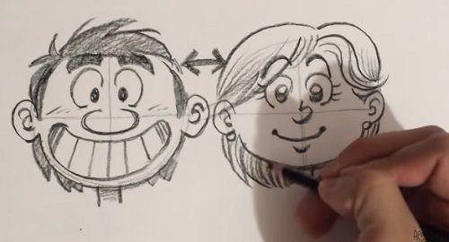 Dibujar CARICATURAS, Rostros Femeninos y Masculinos