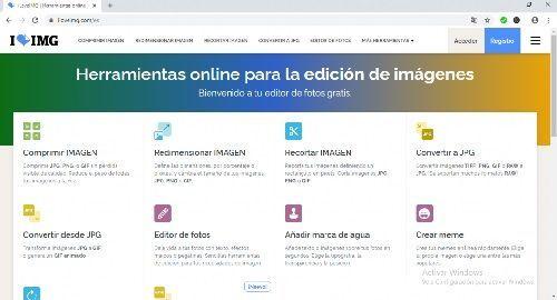 ILOVEIMG Herramientas online para la edición de imágenes