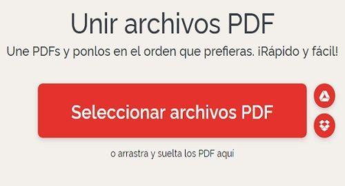 ilovePDF  para trabajar ONLINE con archivos PDF