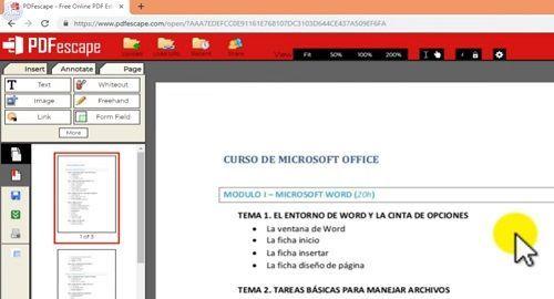PDFescape Edita y Modifica Archivos PDF Online