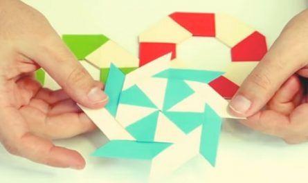 manualidad, bricolaje, mano, casero, cartón, papel, origami, papiroflexia, estrella ninja transformable, canalmenorca.com