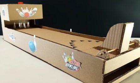 manualidad, bricolaje, mano, casero, cartón papel, juegos bolos, bowling, juego boliche, canalmenorca.com