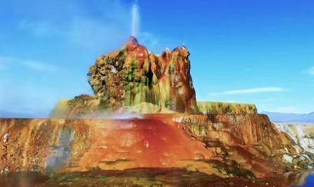 Vídeos increíbles, lugares maravillosos, naturaleza, viajar, explorar, aventura, Fly Geyser - Black Rock Desert, nevada, condado de Washoe, perforación pozos, energía geotérmica, canalmenorca.com