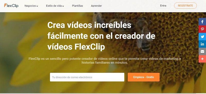 programa online, editor vídeos, interfaz fácil, flexclip, diseño vídeos, animaciones texto, alta resolución, audios libres, biblioteca multimedia, fotos, imágenes, vídeos, música, sonido, canalmenorca.com