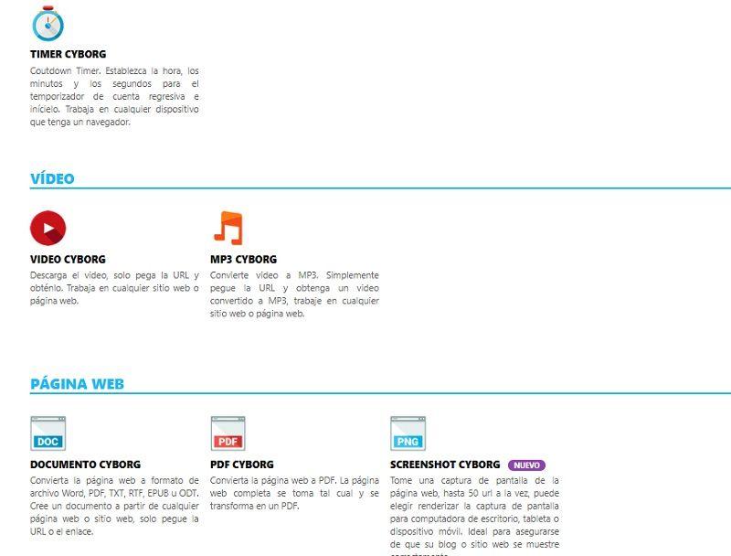 VideoCyborg, descargar, Youtube, Convertir, TWEET, IMAGEN, WEB, PDF, INSTAGRAM, DOCUMENTO, FACEBOOK, VÍDEO, MP3, TEXTO, timer, screenshot, comprimir, png, jpg, excel, split, img, webp, vintage, puzzle, poster, cultivo, polaroid, animagod, bw, pintura, lápiz, montaje, canalmenorca.com