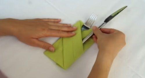 Cómo Doblar Servilletas para Cubiertos