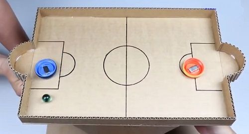 cartón, papel, hoja, doblar, origami, papiroflexia, manualidad, mano, papelisimo, decoración, hockey, casero, juguete, canalmenorca.com