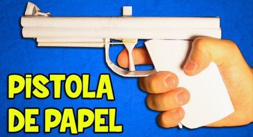 Pistola Papel de Gomas Elásticas