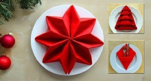 Doblar servilletas de papel en forma de Estrella