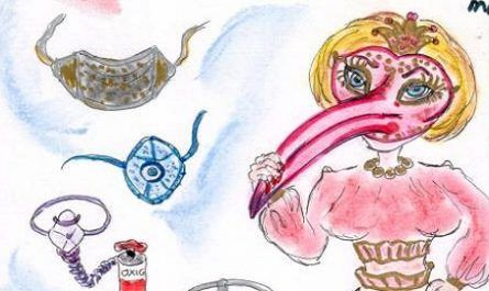 cómic, viñeta, dibujo, tebeo, historieta, arte, caricatura, rincón de julia, Rabiosa Actualidad, Radiaciones Comiqueras, Cómic Digital, navegantes racomiqueros, mascarilla, carnaval, venecia, coronavirus, enfermedad, farmacia, racomic.com, canalmenorca.com