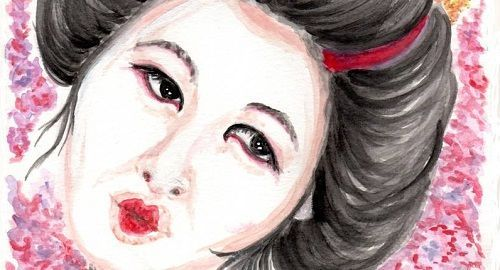 Mujer Japonesa tipo Geisha