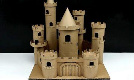 cartón, papel, hoja, doblar, origami, papiroflexia, manualidad, mano, juguete, castillo, cuento, hadas, torreones, pasadizos, canalmenorca.com
