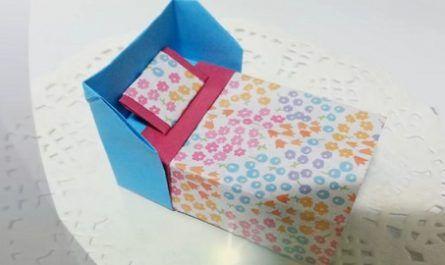 cartón, papel, hoja, doblar, origami, papiroflexia, manualidad, mano, juguete, Cama, Almohada, Colchón, canalmenorca.com