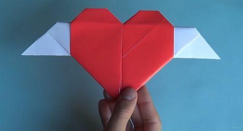 Corazón con Alas de papel – Papiroflexia