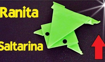 cartón, papel, hoja, doblar, origami, papiroflexia, manualidad, mano, juguete, ranita, rana, saltarina, canalmenorca.com