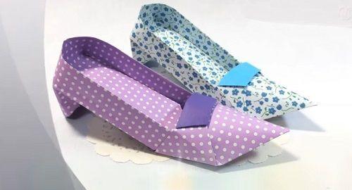 Zapatos de Tacón Alto – Papiroflexia