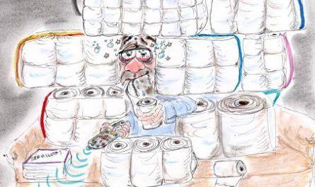cómic, viñeta, dibujo, tebeo, historieta, arte, caricatura, rincón de julia, Rabiosa Actualidad, Radiaciones Comiqueras, Cómic Digital, estado alarma, sánchez, coronavirus, covid-19, infectados, lazareto, cuarentena, racomic.com, canalmenorca.com