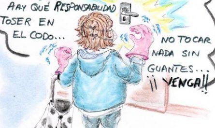 cómic, viñeta, dibujo, tebeo, historieta, arte, caricatura, rincón de julia, Rabiosa Actualidad, Radiaciones Comiqueras, Cómic Digital, Súpermercado, ultramaridos, comida, alimentos, reto, challenge, coronavirus, España, covid-19, infectados, cuarentena, racomic.com, canalmenorca.com
