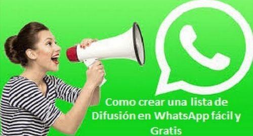 Como crear una lista de Difusión en Whatsapp