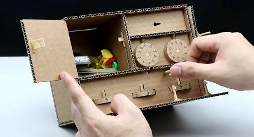 Caja Fuerte de Seguridad de Cartón con 3 niveles de bloqueo