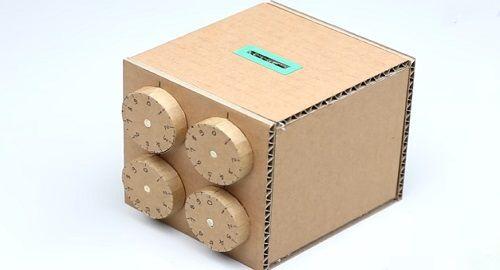 Caja Seguridad de Cartón con contraseña de 4 dígitos