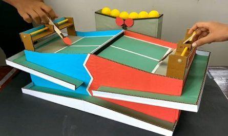 Manualidad, Cartón, Game, Juego, Juguete, Mesa, Cartón, Tenis, Raquetas, Puntuación, Juguete, Reciclaje, canalmenorca.com