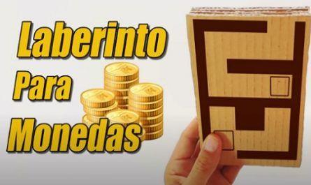 Manualidad, Cartón, Laberinto, Monedas, Juguete, Reciclaje, canalmenorca.com
