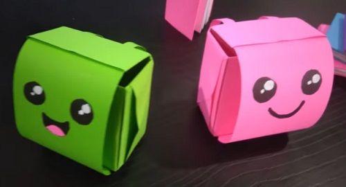 MOCHILA Maleta Origami de Papel