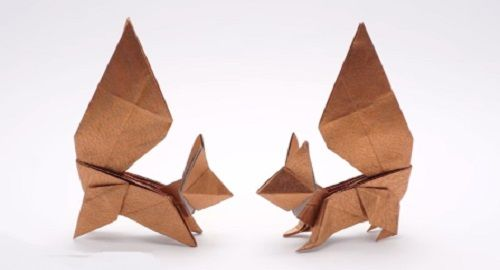 ARDILLA Origami de Papel