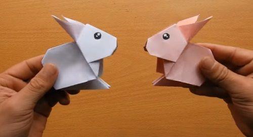 CONEJO Origami de papel