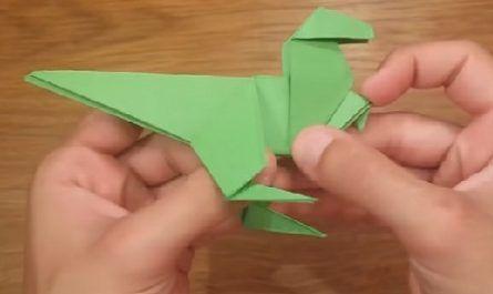 Papiroflexia, Origami, Papel, flexus, Doblar, Plegado, Figuras, Esculturas, Cortes, Transformación, Modelar, Tijeras, Dinosaurio, canalmenorca.com