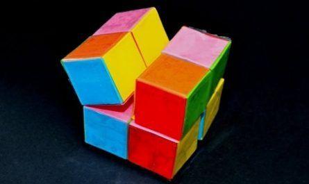 Cubo, Papel, Infinito, origami, papiroflexia, papel, jugar, juego, modelar, doblar, papiro, tijeras, plegado, transformación, cuadrado, rectangular, canalmenorca.com