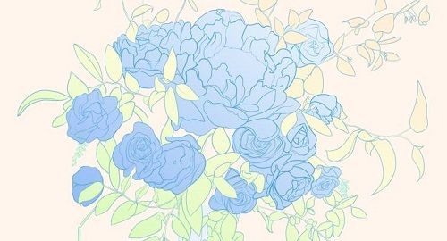 Peonias (Azul)