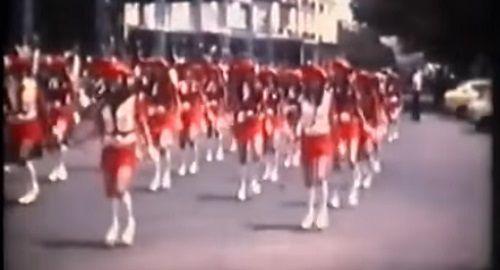 Grupo de Majorettes y Banda de Villacarlos años 70