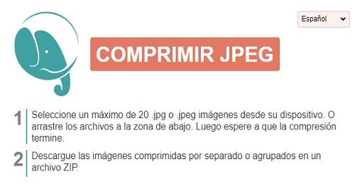 COMPRIMIR JPEG online