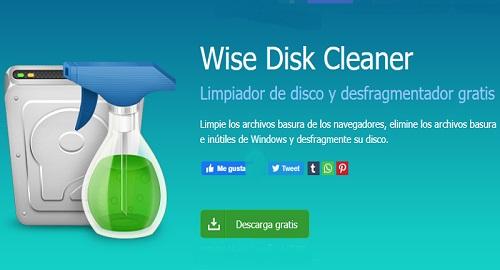 WISE Disk Cleaner, Limpiador de Disco Duro